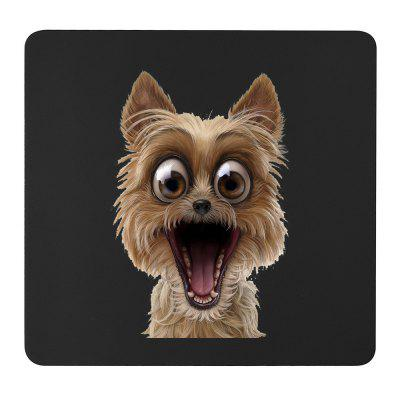 Non-Slip Rectangle Big Eyes Puppy Mouse Pad for Home Office and Gaming Desk