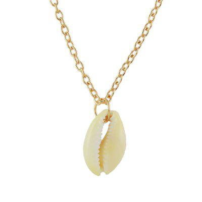 Minimalist Metal Chain with Shell Pendant Necklace