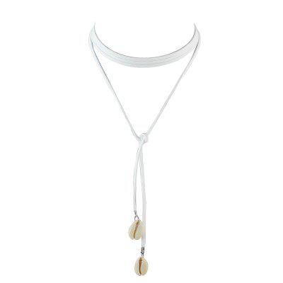 Minimalist Long Flannelette Chain with Shell Necklace