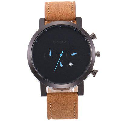 V5 Men Classic Luxury Leather Quartz Watch