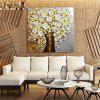 STYLEDECOR Modern Hand Painted Knife Painting White Flowers Tree Oil Painting - MULTI