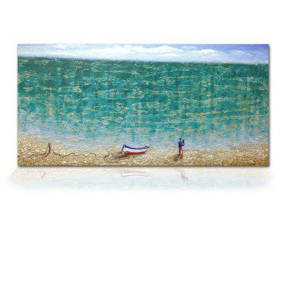 STYLEDECOR Modern Hand Painted Abstract The Beach Lovers Oil Painting on Canvas