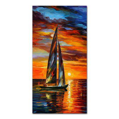 STYLEDECOR Modern Hand Painted Sunset on the Sea Oil Painting on Canvas