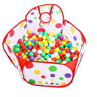 Folding 1 Meter Ocean Ball Pool with A Basket and 300 Ball Toy Tents