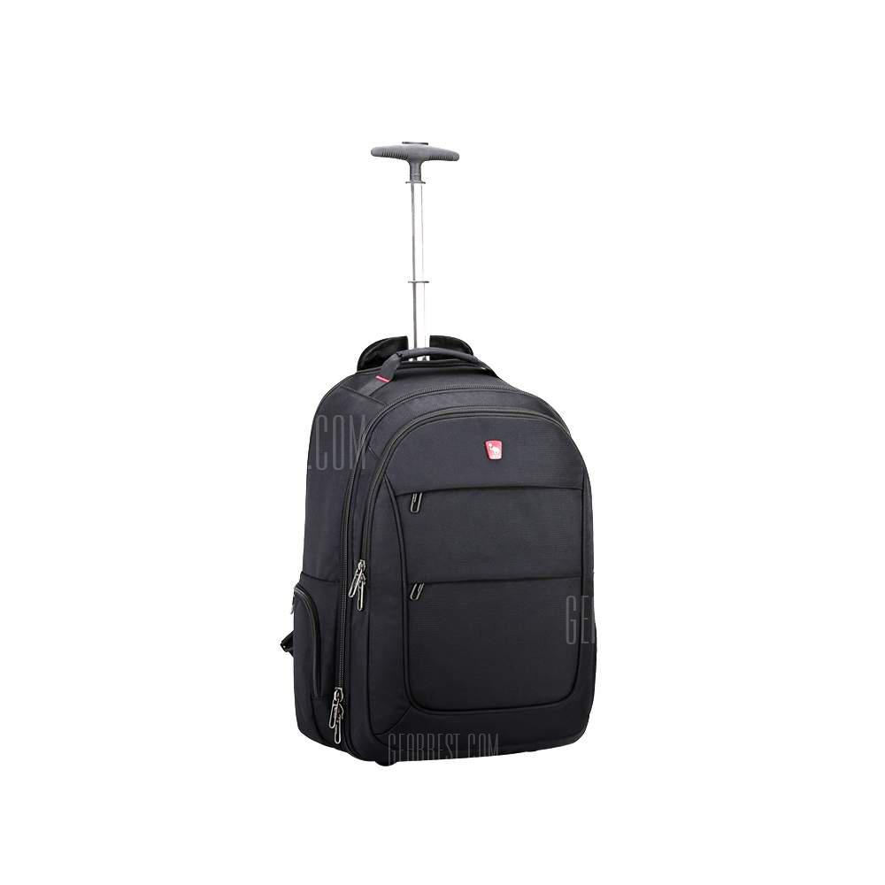 OIWAS Wheeled Backpack Waterproof Rolling School Pack Travel Suitcase for Laptop