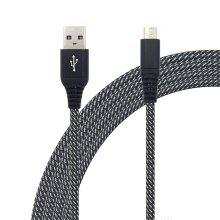 1METER Nylon Micro USB Cable Output 2.4A Fast Charge Wire F127