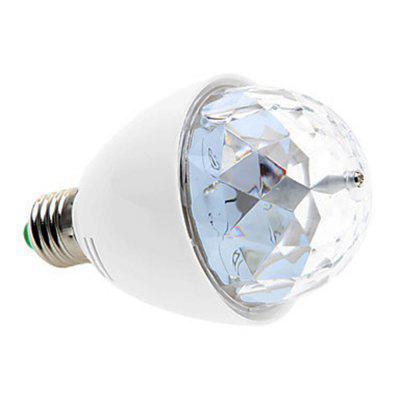 SZKINSTON E27 LED AC 85 - 260V Highlight RGB Colorful Rotation Globe Bulb Light