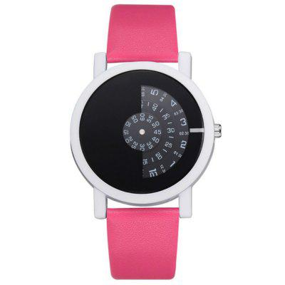 New Fashion Lady Pinkycolor Personality Clock Dial Casual Quartz Wrist Watch