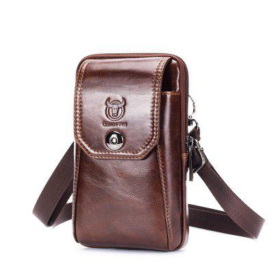 Genuine Leather Men's Waist Packs Phone Pouch Bags