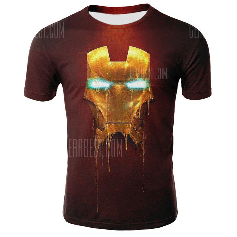 3D The Avengers Print Men's Casual Short Sleeve Graphic T-shirt