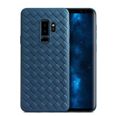 Super Soft Phone Case for Samsung Galaxy S9 Plus Luxury Grid Weaving Cover