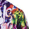 Hot Men's Print Slim Fashion Party Collar Floral Long Sleeve T-shirt - MULTI-A