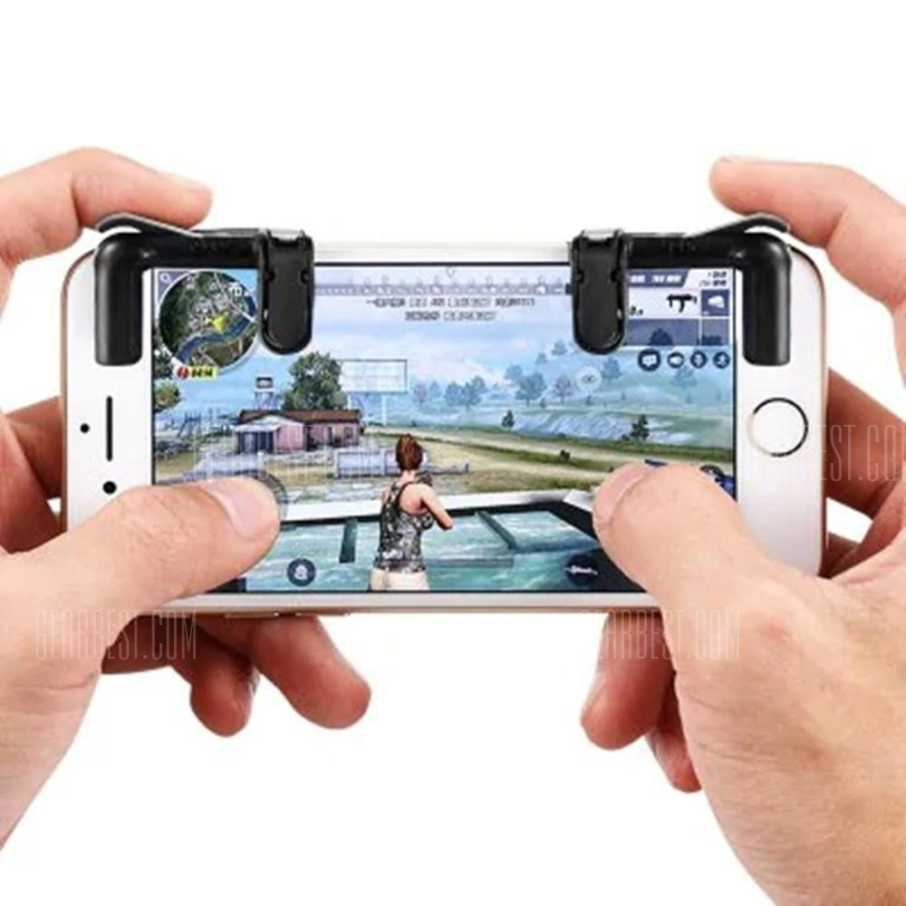 Smart Phone Shooter Controller Mobile Game Fire Button Aim Key Accurate 2PCS - BLACK