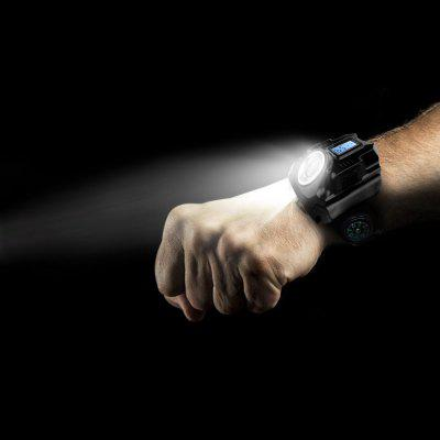 Watch Flash Light Led Wrist Light Rechargeable Outdoor Lamp
