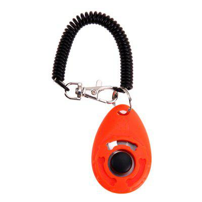 Pet Trainer Training Dog Clicker Adjustable Sound Key Chain and Wrist