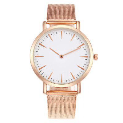 V5 Men Stainless Steel Band 38MM Dial Rose Quartz Watches