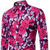 Autumn  Winter Men's  Slim Long-Sleeved Color Print Casual Shirt - PURPLE