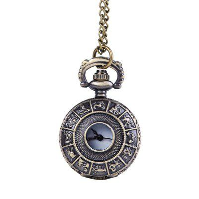 Stagionale 3152445 Dodici White Face Simple Retro Pocket Watch