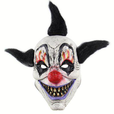 YEDUO Creepy Evil Scary Halloween Clown Mask Adult Ghost Festival Party
