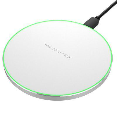 Ultra-thin Aluminum Mini Qi Wireless Charger Non-slip for iPhone X