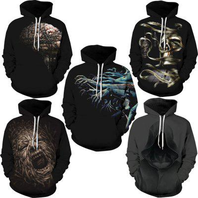 Gearbest Autumn Winter Digital Printing Men's Long Sleeve Sweatshirt