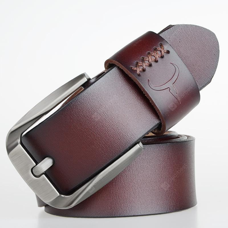 COWATHER Business Casual Fashion Men's Pin Buckle Simple Retro Belt