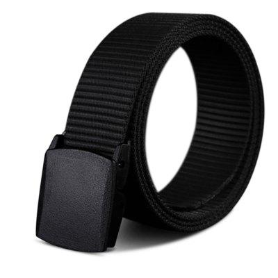 Gearbest COWATHER New Nylon Material Long Big Size Military Outdoor Male Jeans Belts - BLACK 110CM
