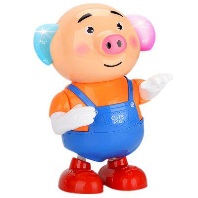 Dancing Singing Walking with Light Sprouting Pig Electronic Toy