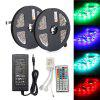 ZDM 2PCS 150 x 5050 RGB Waterproof LED Strip Light 44Key IR Remote Controller12V 6A Power Supply AC100-240V - MULTI-D