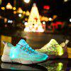 Stylish Flash Lightweight Fiber-Optic Sports Shoes - WHITE