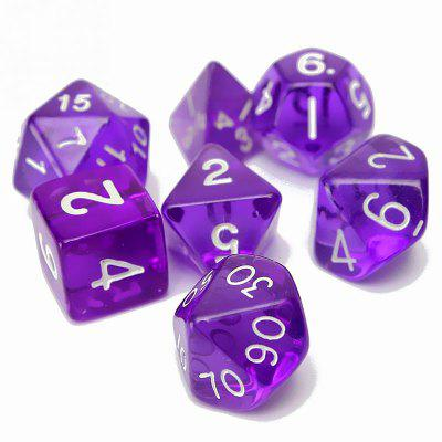 Polyhedral Dice Color Math Game Set 7PCS