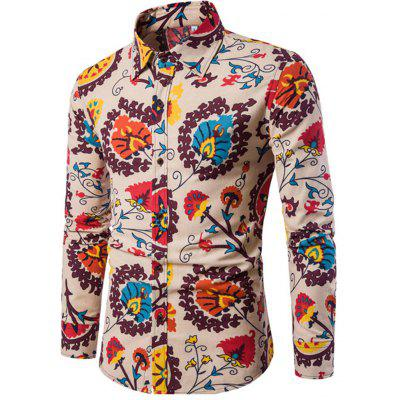 Men's Long Sleeve Print Shirt