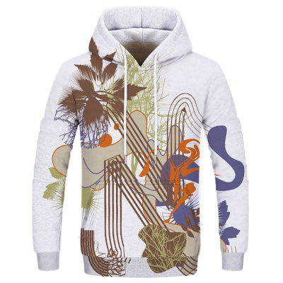 Fashion Hand-Painted Men's Double-Decker Hoodie