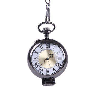 Seasonal 3152451 Black Large Old Man Flip Glass Magnifying Glass Pocket Watch