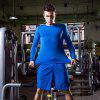 Men's Fitness Running Elastic Quick-drying Long Sleeve T-Shirt - BLUE