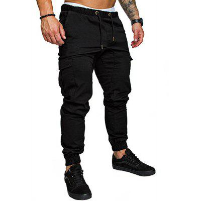Men's Fashion Casual Tether Elastic Sports Pants Trousers