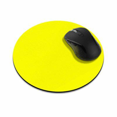 Non-Slip Round  Yellow Mousepad for Home Office Gaming Desk