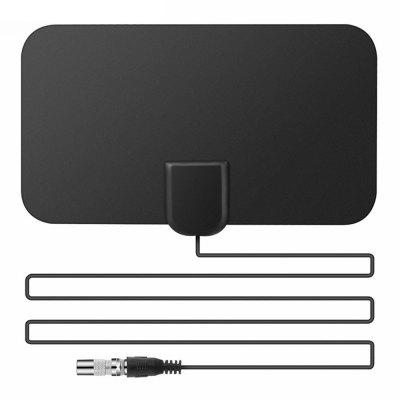 HD Signal Amplifier Digital TV Antenna 50 Miles Range Flat Design 25DB High Gain