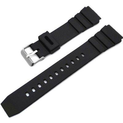 Black Simple Rubber Watcher Band Strap