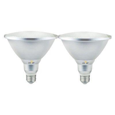 EXUP 2PCS PAR38 18W E27 Waterproof IP65 LED Spot Light Bulb Lamp Indoor Lighting