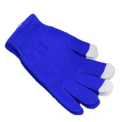 Touch Screen Winter Warm Gloves Solid Color Warmer Smartphone for Women