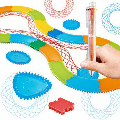 Arte creativo Track Painting Ruler Set Niños juguetes educativos