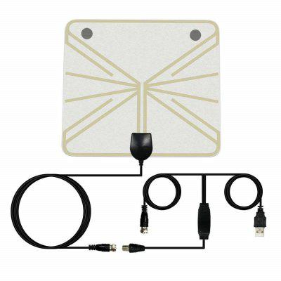 Antenna TV digitale da interno HDTV Antenna TV da 50 miglia Gamma 25DB Elevata guadagno
