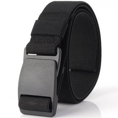 Apparel Accessories Women Men Male Thicken Canvas Belt Military Tactical Strap Knitted Jeans Casual Pant Woven Buckle Elastic Metal Buckle