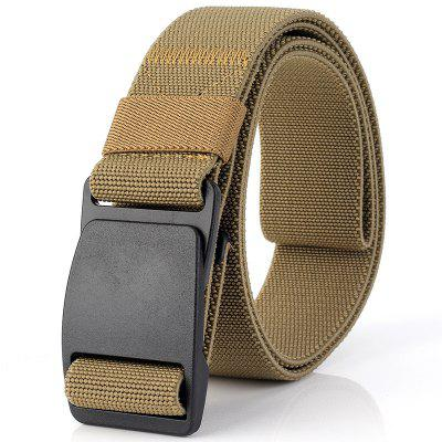 ENNIU Elastic Stretch Weaving Durable Plastic Buckle Correa de lona