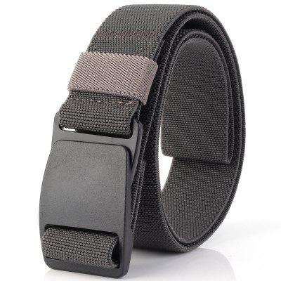 ENNIU Elastic Stretch Weaving Durable Plastic Buckle Canvas Belt