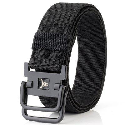 ENNIU Double Buckle Stretch Durable Weaving Nylon Elastic Belt