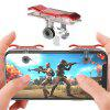 Mobile Game Fire Button Shooting Trigger Aim Key Joystick 2pcs - RED