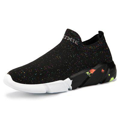 New Men Fashion Mesh Upper Breathable Lightweight Casual Sports Slip-on Shoes