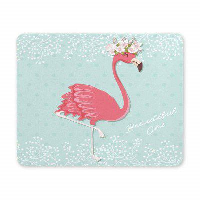 Non-Slip Rectangle Red Blue Bird Mouse Pad for Home Office and Gaming Desk